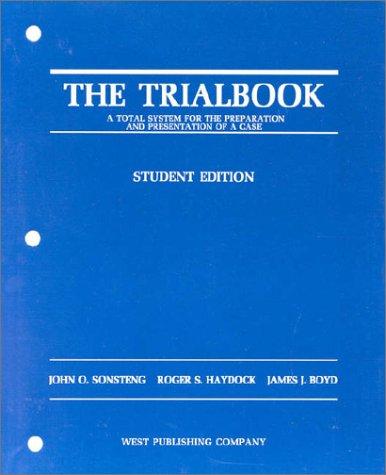 9780314858658: The Trialbook, Student Edition (Coursebook)