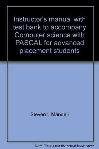 Instructor's manual with test bank to accompany: Mandell, Steven L