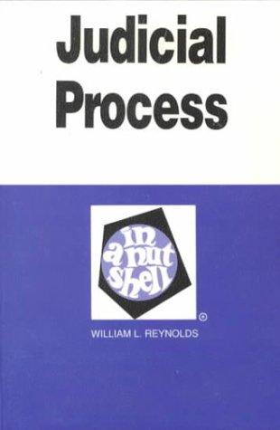 9780314884305: Judicial Process in a Nutshell (Nutshell Series)