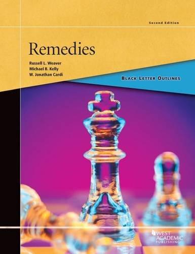9780314904096: Black Letter Outline on Remedies (Black Letter Outlines)