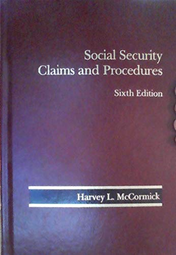 9780314904553: Social Security Claims and Procedures 6th Edition 2011