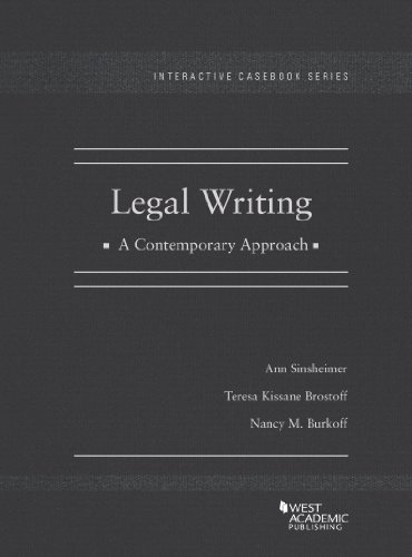 9780314906724: Legal Writing, A Contemporary Approach (Interactive Casebook Series)