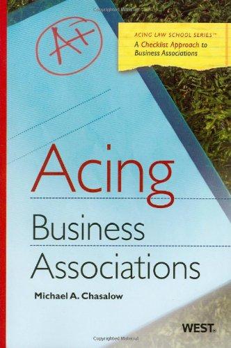 9780314906731: Acing Business Associations (Acing Law School )