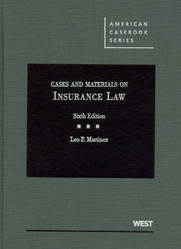 9780314906793: Cases and Materials on Insurance Law, 6th (American Casebooks)