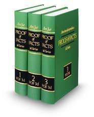 9780314907431: American Jurisprudence Am Jur Amjur Proof of Facts POF 3d 3rd Third Edition