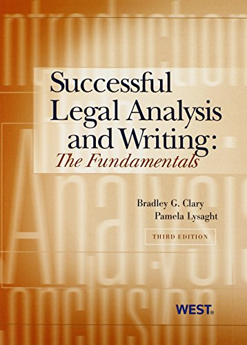 9780314908049: Successful Legal Analysis and Writing: The Fundamentals, 3d (Coursebook)