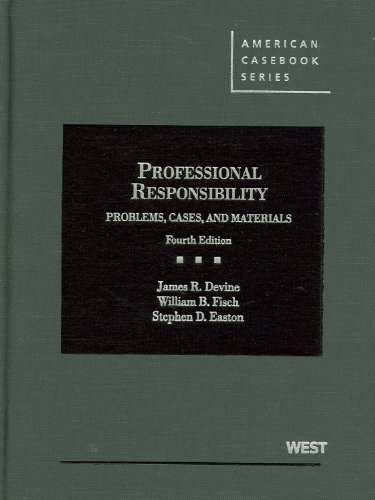 9780314908858: Problems, Cases and Materials on Professional Responsibility (American Casebook Series)