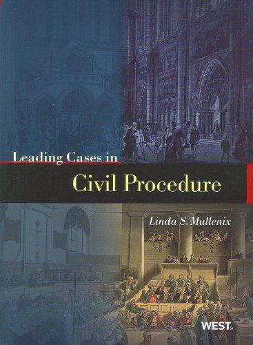 9780314911537: Leading Cases in Civil Procedure (American Casebooks)