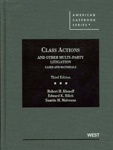 9780314911650: Class Actions and Other Multiparty Litigation (American Casebook Series)