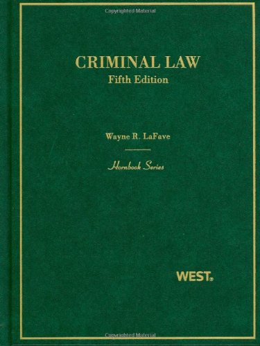 9780314912688: Criminal Law (Hornbooks)