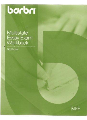 9780314913685: BARBRI Multistate Essay Exam Workbook (MEE Testing)