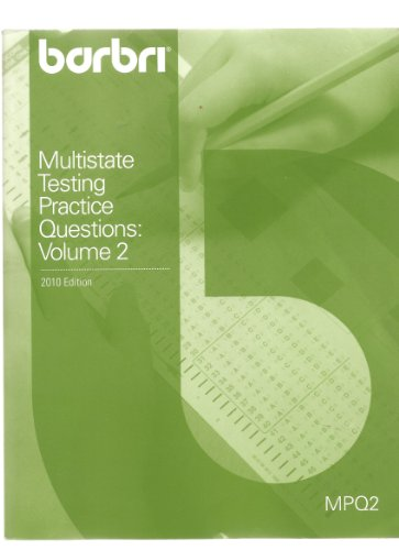 9780314913999: Multistate Testing Practice Questions: Volume 2 (Multistate Advantage MPQ2)