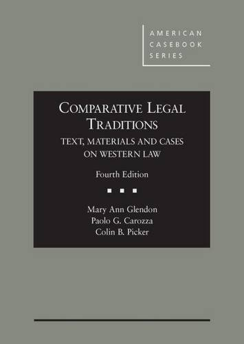 9780314917508: Comparative Legal Traditions, Text, Materials and Cases on Western Law (American Casebook Series)