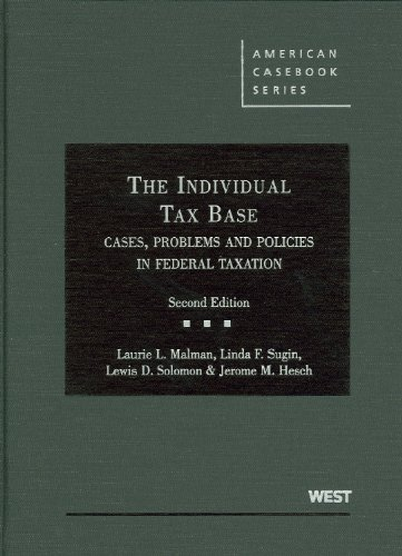9780314917522: The Individual Tax Base, Cases, Problems and Policies In Federal Taxation (American Casebook Series)