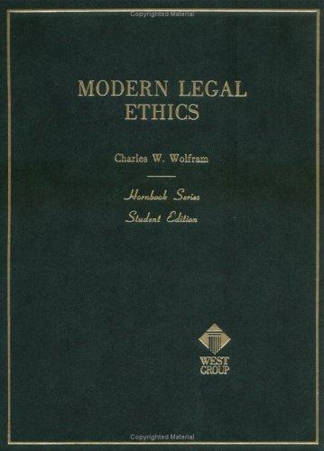 9780314926395: Modern Legal Ethics (Hornbook Series)