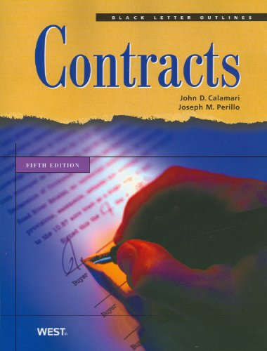9780314926937: Black Letter Outline on Contracts (Black Letter Outlines)