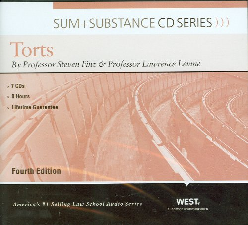 9780314926968: Sum and Substance Audio on Torts