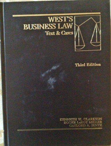 9780314931627: West's business law: Text & cases