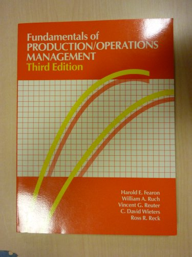 Fundamentals of PRODUCTION/OPERATIONS MANAGEMENT.
