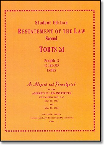 A Concise Restatement of Torts, 2d (American: American Law Institute