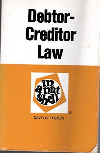 9780314949998: Debtor creditor law in a nutshell (Nutshell series)
