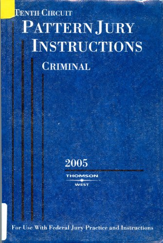 Tenth Circuit Pattern Jury Instructions Criminal (For