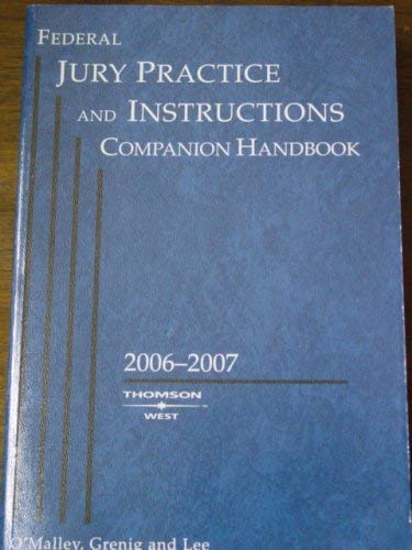 Federal Jury Practice and Instructions, 5th Ed.: Kevin F. O'Malley,