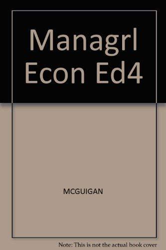 9780314963628: Managrl Econ Ed4
