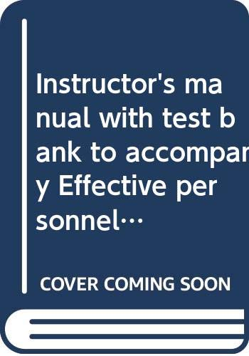 Instructor's manual with test bank to accompany: Schuler, Randall S