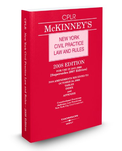 McKinney's New York Civil Practice Law and: West
