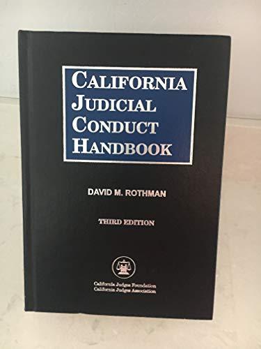 9780314978189: California Judicial Conduct Handbook