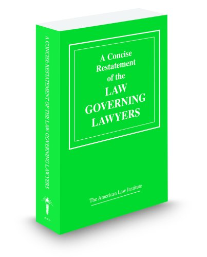 A Concise Restatement of the Law Governing: American Law Institute