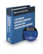9780314980977: California Summary Judgment and Related Termination Motions