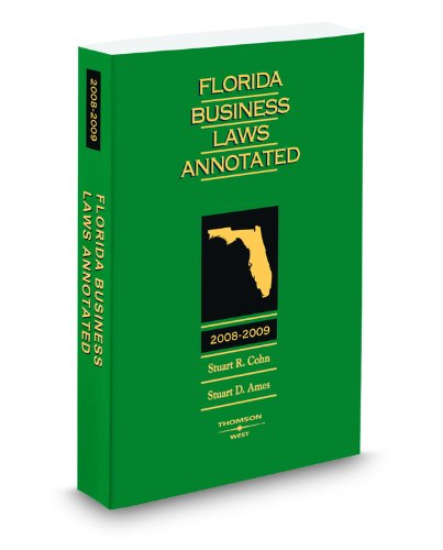 9780314981776: Florida Business Laws Annotated, 2008-2009 ed.