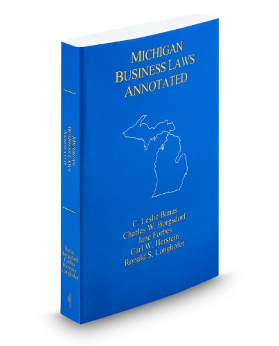 9780314984302: Michigan Business Laws Annotated, 2008-2009 ed.