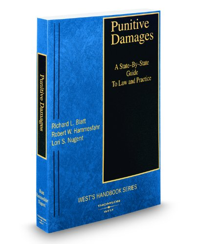 9780314990020: Punitive Damages: A State-by-State Guide to Law and Practice, 2008-2009 ed.