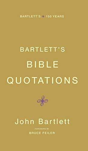 9780316014205: Bartlett's Bible Quotations