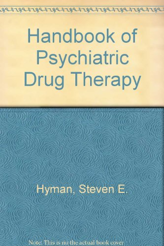 9780316049382: Handbook of Psychiatric Drug Therapy