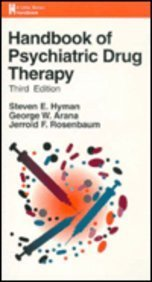 9780316049467: Handbook of Psychiatric Drug Therapy