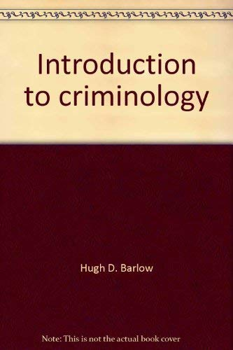 9780316081153: Introduction to criminology