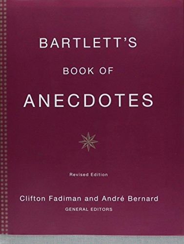 9780316082679: Bartlett's Book of Anecdotes