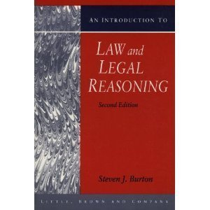 9780316114899: An Introduction to Law and Legal Reasoning