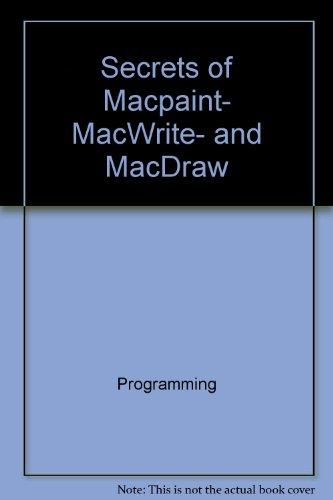 9780316117944: Secrets of MacPaint, MacWrite, and MacDraw (The Little, Brown microcomputer bookshelf)