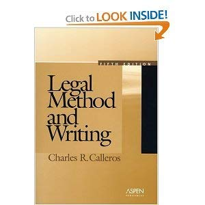 9780316125024: Legal Method and Writing