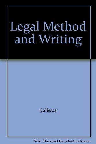 9780316125055: Legal Method and Writing