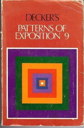 9780316179263: Decker's Patterns of Exposition 9