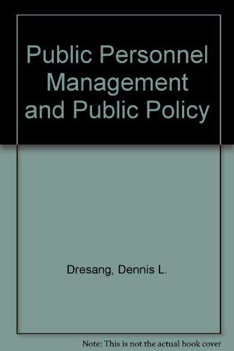 9780316193207: Public Personnel Management and Public Policy