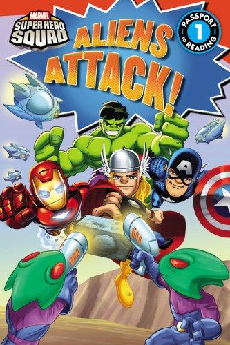 9780316209939: Super Hero Squad: Aliens Attack! (Passport to Reading Level 1)