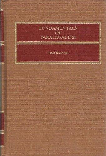 9780316231190: Fundamentals of paralegalism