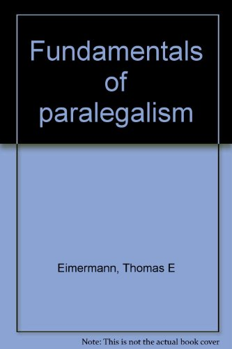 9780316231206: Fundamentals of paralegalism